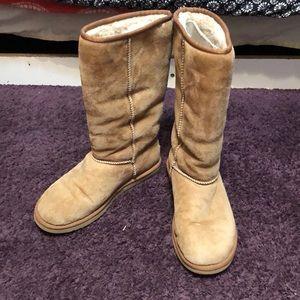 Tall light Brown Ugg Boots W8 (fits W10)